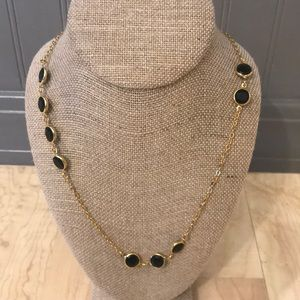 J. Crew long smokey glass necklace
